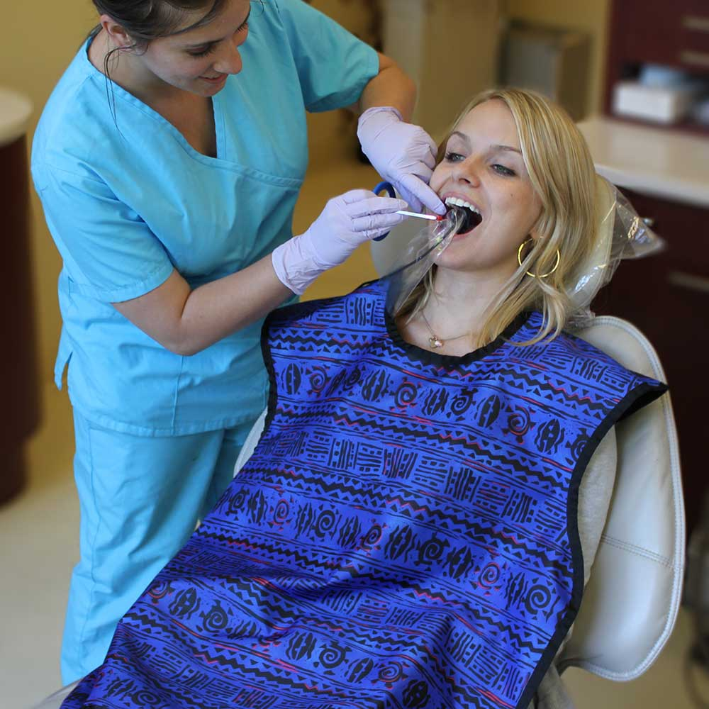 Delantal dental sin collar adulto, DTL-ADULT