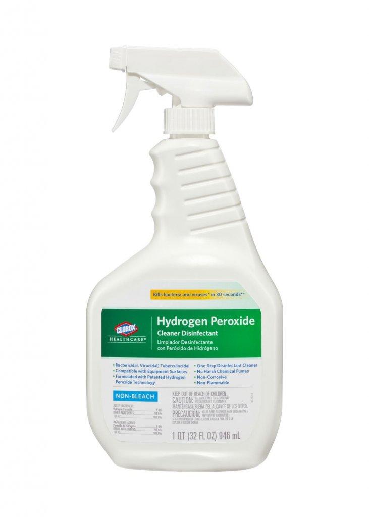 clorox hydrogen peroxide cleaner disinfectant spray infab. Black Bedroom Furniture Sets. Home Design Ideas