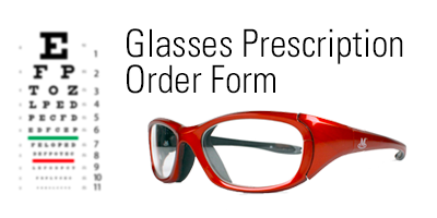 Glasses Prescription Order Form