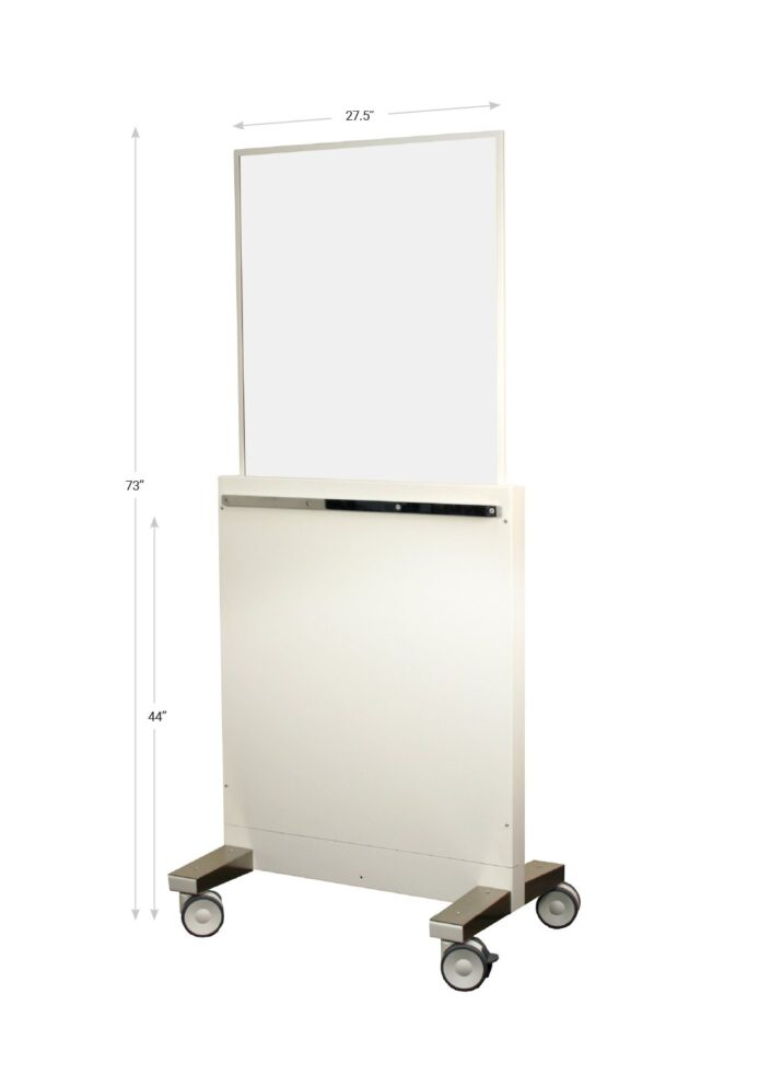 X Ray Mobile Barrier Technician Protection 076993 Dimensions