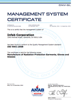 ISO 2016 Certificate