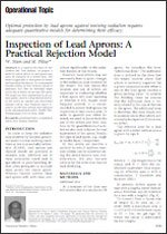 lead apron inspection: practical rejection model