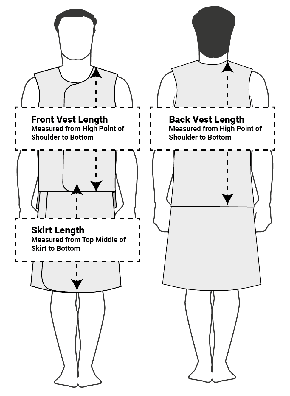 Vest Skirt Sizing