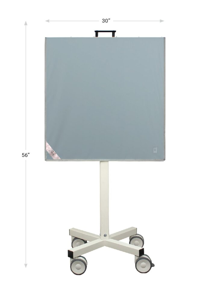 X Ray Mobile Barrier – Revolution Solid Panel REV SPMC Dimensions