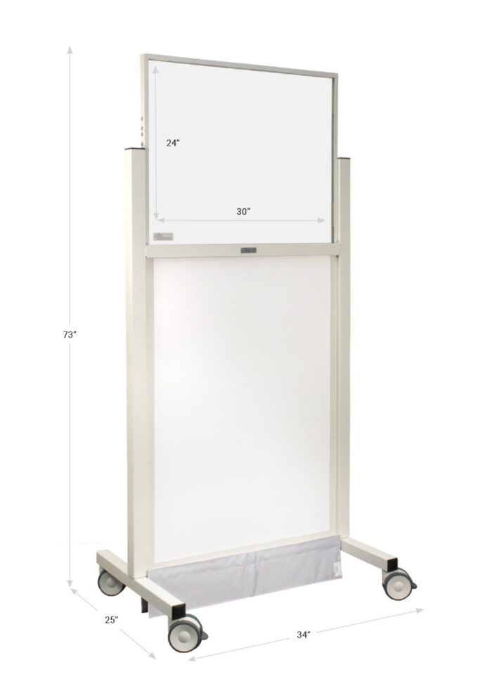 X Ray Mobile Barrier Standard 683460 Dimensions
