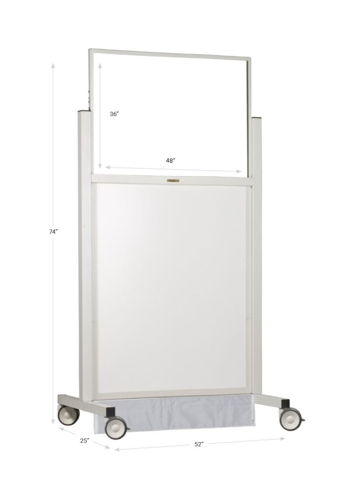 X-ray Mobile Barrier Wide 683482 Dimensions