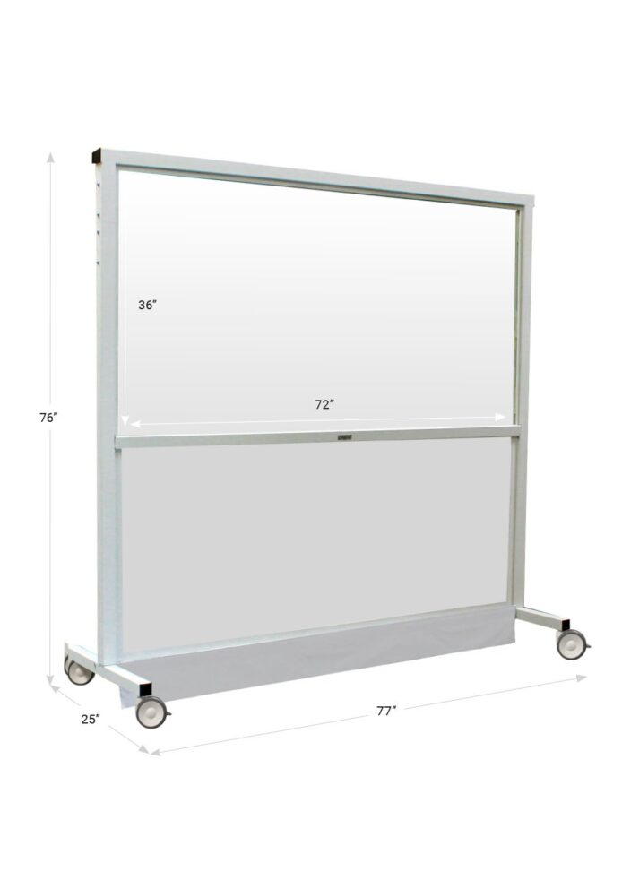X Ray Mobile Barrier X Wide 683488 Dimensions