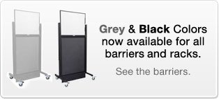 Barrier And Apron Racks Now Available In Grey And Black