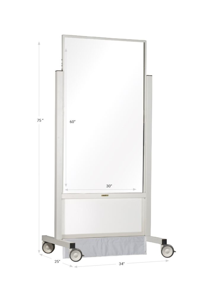 X-ray Mobile Barrier Mid Tall 683473 Dimensions