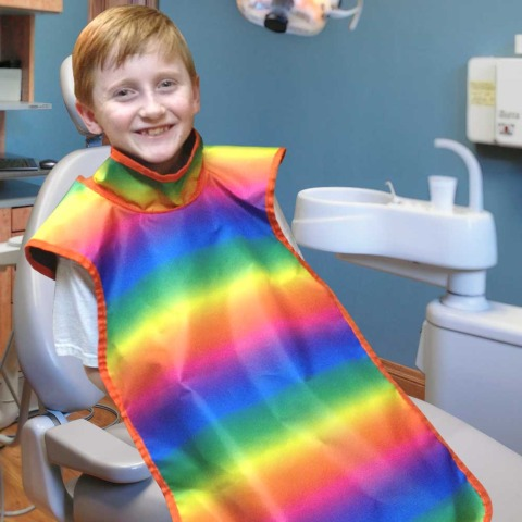 Children's Dental Apron With Collar