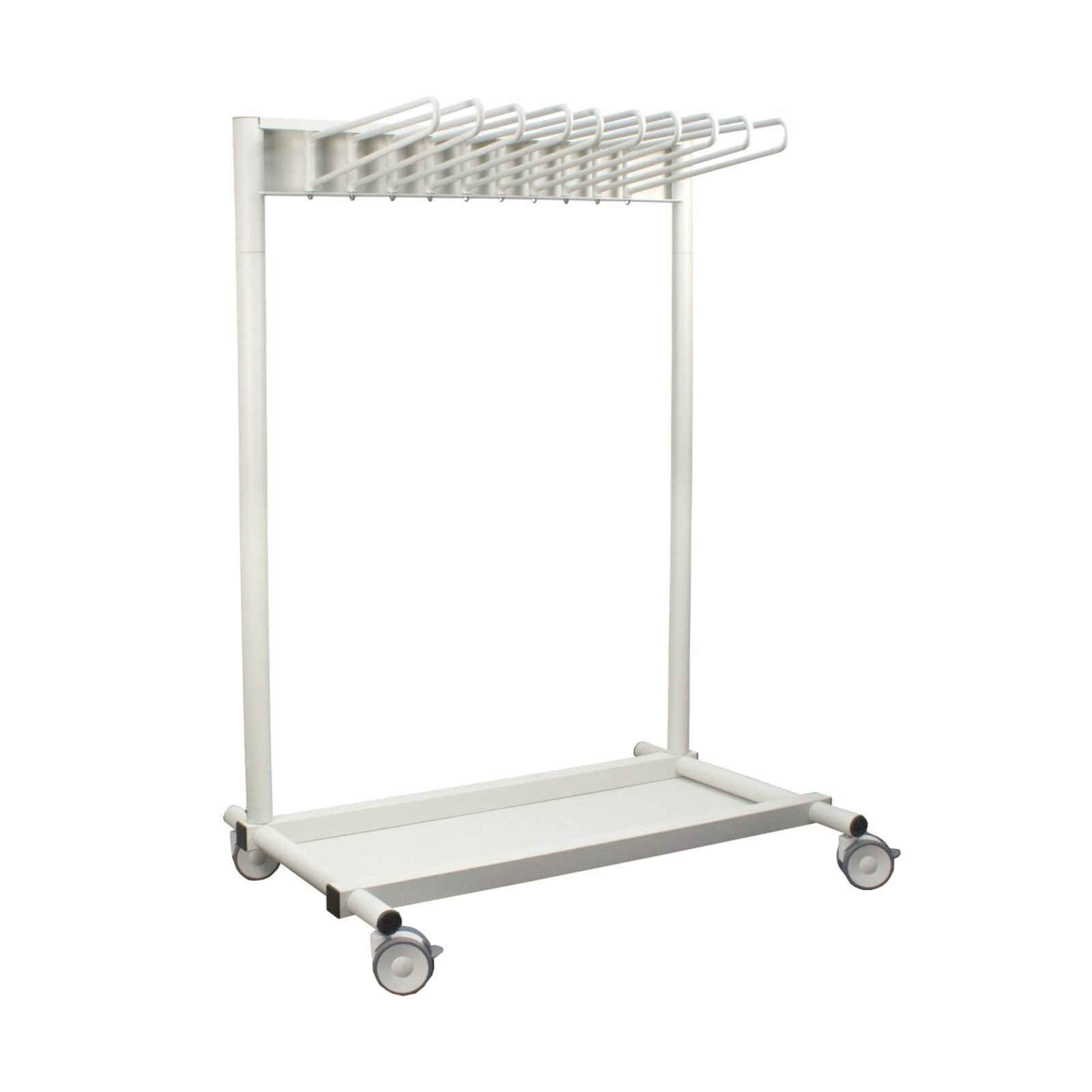 Revolution 10 Arm Mobile Apron Rack