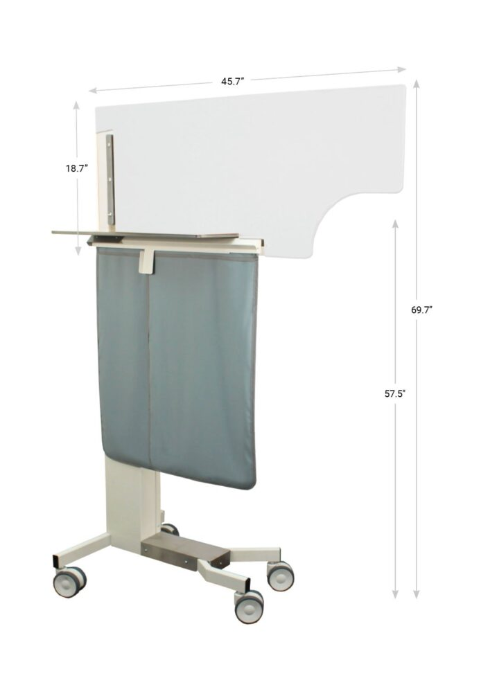 076996 Adjustable Physician Protection Barrier Dimensions