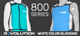 800 Series White Color Blocking
