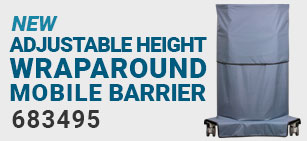 Adjustable Height Wraparound Mobile Barrier