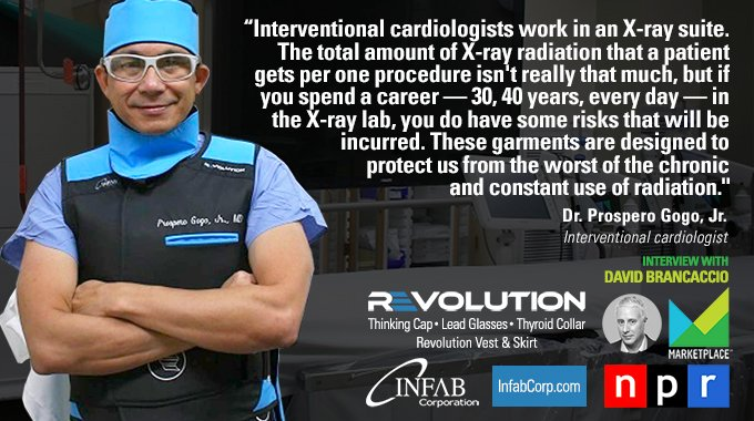 Interventional Radiologist Interviewed On Marketplace Wearing Infab Revolution