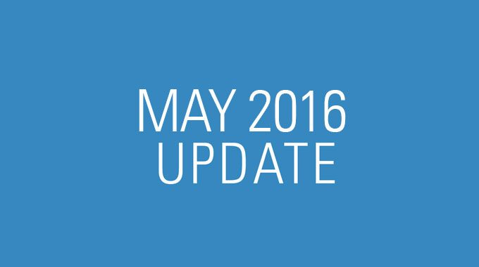 May 2016 Update