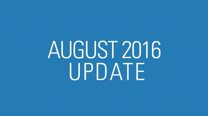 August 2016 Update