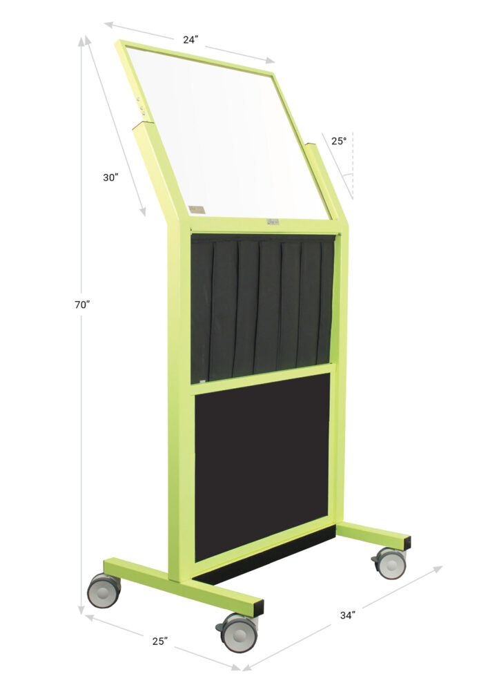 Tilted Mobile Barrier With Reach Through Curtain – 683462