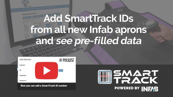 SmartTrack Pre-fills Infab Apron ID Numbers