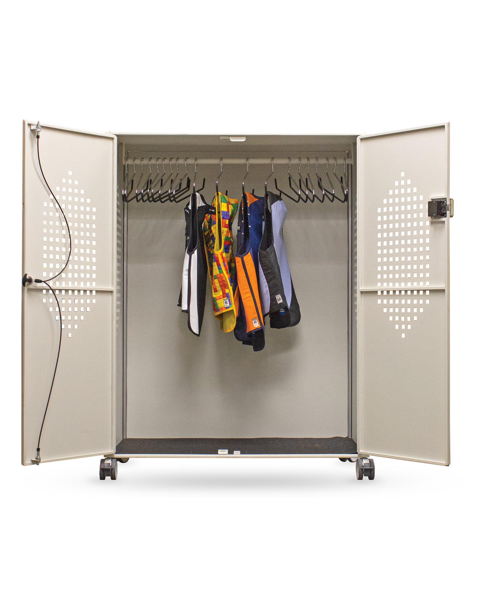 Revolution 20 Hanger Mobile Apron Locker Open