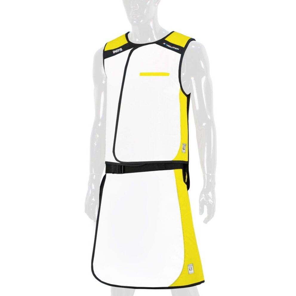 907 White / Yellow Color Block