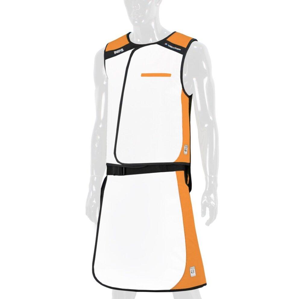 915 White / Orange Color Block