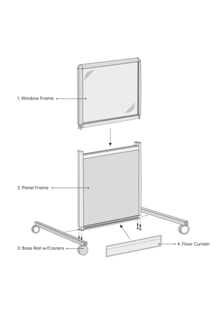 flat pack barrier assembly