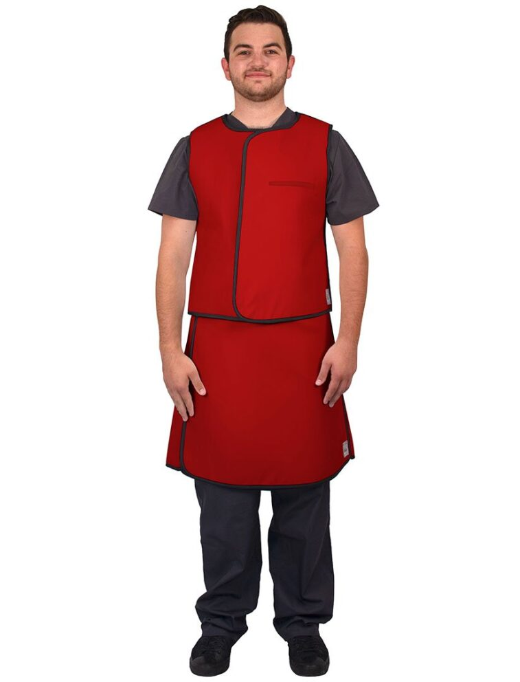 UVS Front Red Web Lead Apron