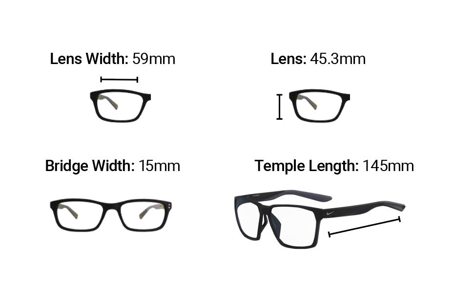 Radiation Glasses Nike Maverick Dimensions