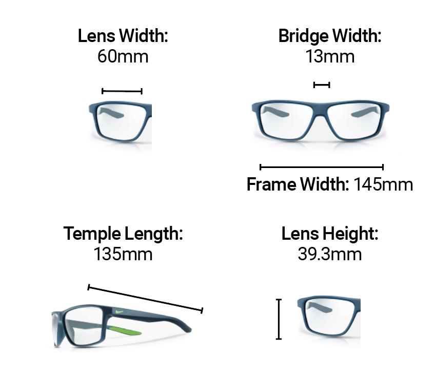 Radiation Glasses Nike Premier Dimensions