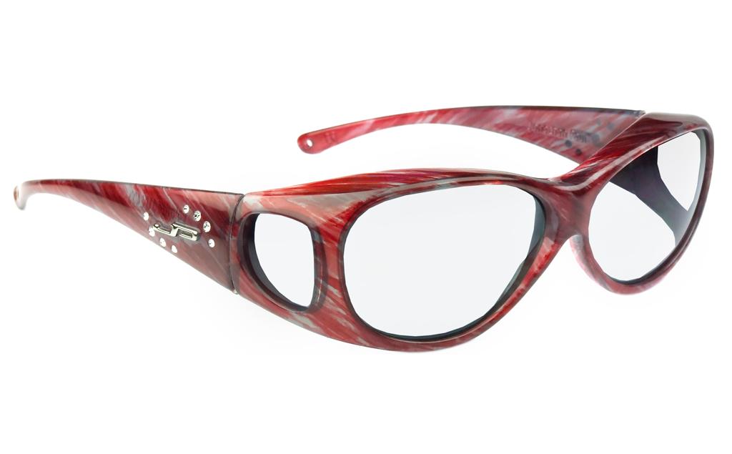 lead glasses fitovers lotus matte claret stripe 800307