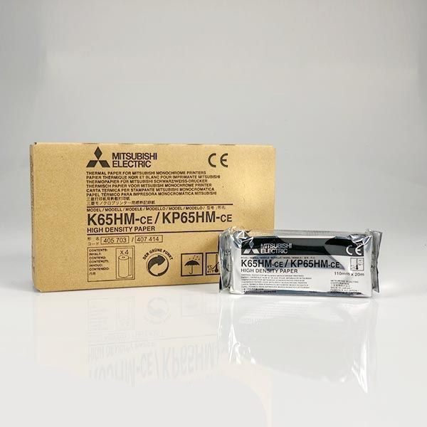 Mitsubishi K65HM-CE / KP65HM-CE  Monochrome High-Density Thermal Paper – 3001